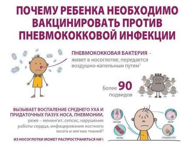Вакцины для детей от пневмонии: названия, показания и побочные эффекты