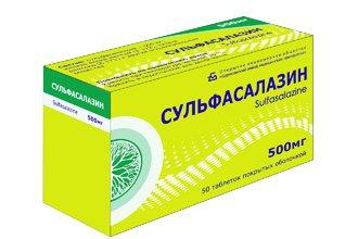 Сульфасалазин ен: таблетки 500 мг