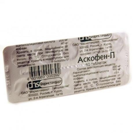 Комбинированный обезболивающий препарат аскофен: состав, инструкция по применению, цена и отзывы