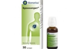 «бронхипрет»: отхаркивающее средство растительного происхождения