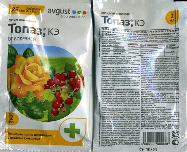 Топаз — фунгицид для винограда
