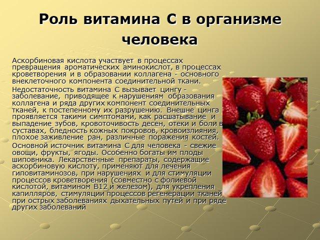 Роль витаминов в питании, содержание витамин в продуктах питания