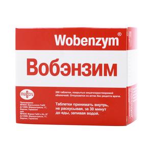 Вобэнзим – инструкция, цена, аналоги и отзывы о применении