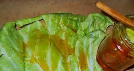 Капустный лист от кашля для детей