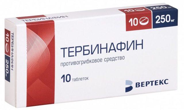 Инструкция по применению мази от грибка тербинафин