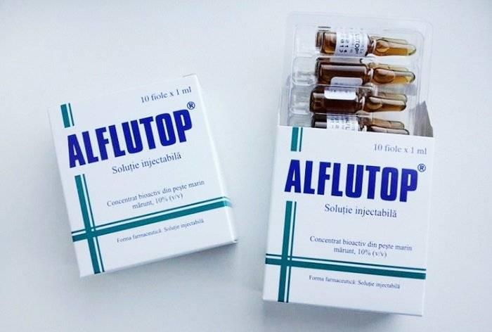 Алфлутоп - инструкция по применению, отзывы, аналоги и формы выпуска уколы в ампулах для инъекций 1 и 2 мл препарата для лечения артроза и остеохондроза у взрослых, детей и при беременности