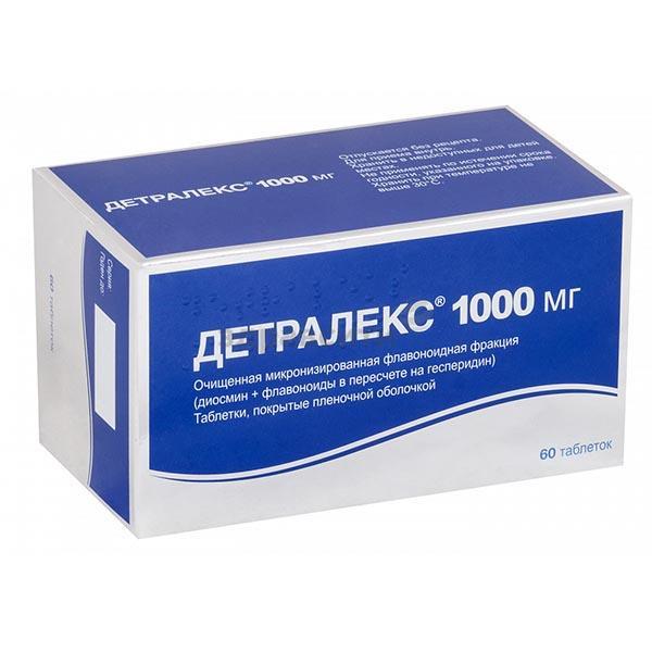 Препарат детралекс 1000: инструкция по применению