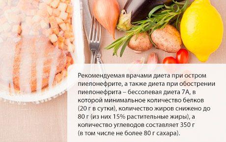 Диета при пиелонефрите у взрослых, детей, беременных. стол 7: меню с рецептами. питание, образ жизни