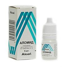 Глазные капли аломид