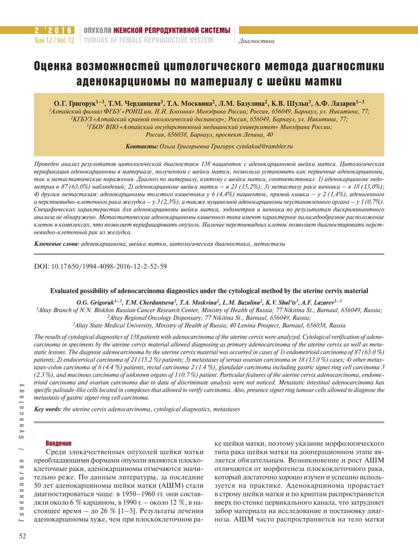 Классификация злокачественных эпителиальных опухолей легкого