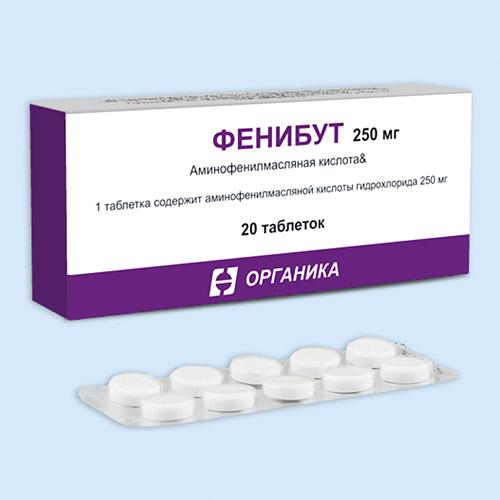 Инструкция по применению таблеток фенибут