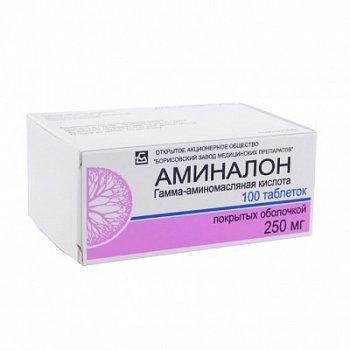 Аминалон: таблетки 250 и 500 мг