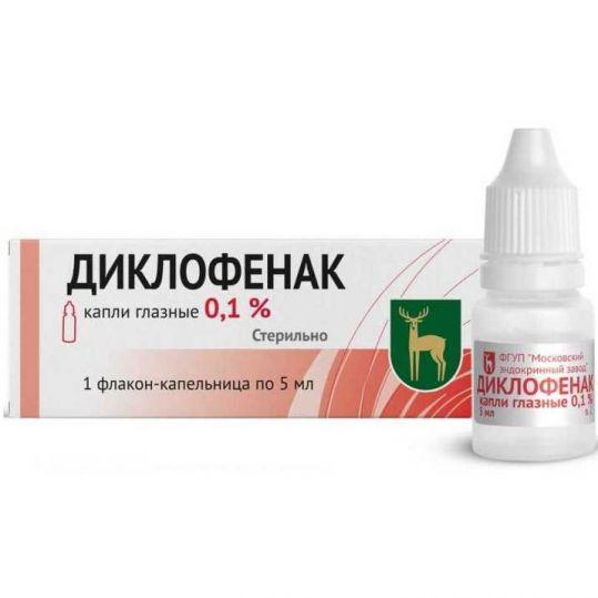 Показания и особенности применения глазных капель диклофенак