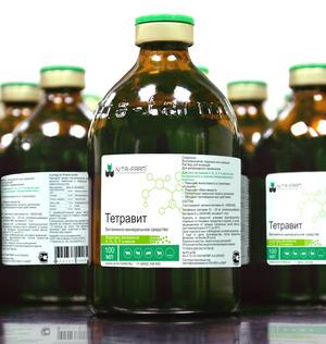 Тетравит - витаминный препарат для животных