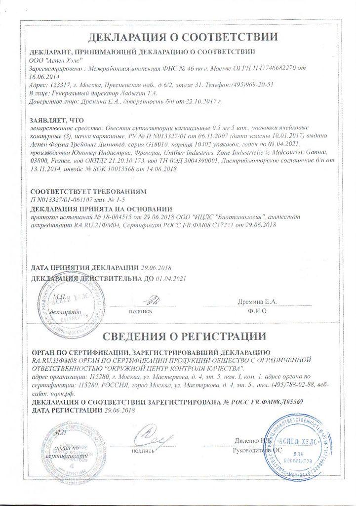 Овестин (крем \ свечи): инструкция по применению, аналоги и отзывы, цены в аптеках россии