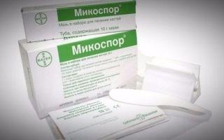 Микоспор набор и крем: инструкция по применению, цена и отзывы