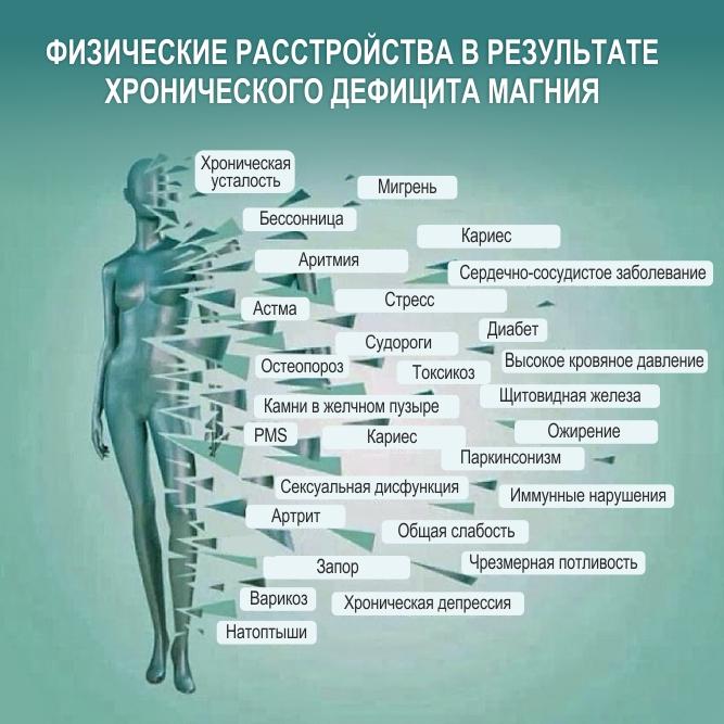 Дефицит (недостаточность) магния - симптомы болезни, профилактика и лечение дефицита (недостаточности) магния, причины заболевания и его диагностика на eurolab