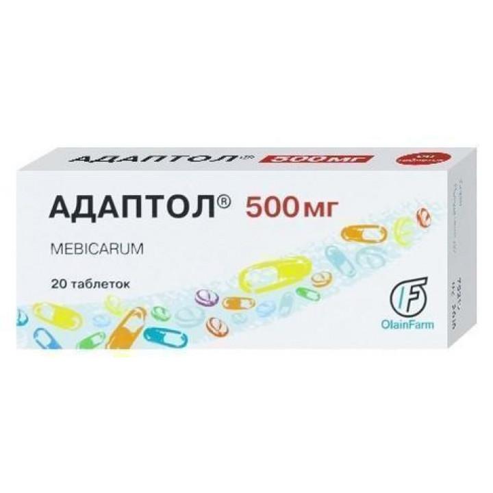 Таблетки адаптол 500 и 300 мг: инструкция, цены и отзывы