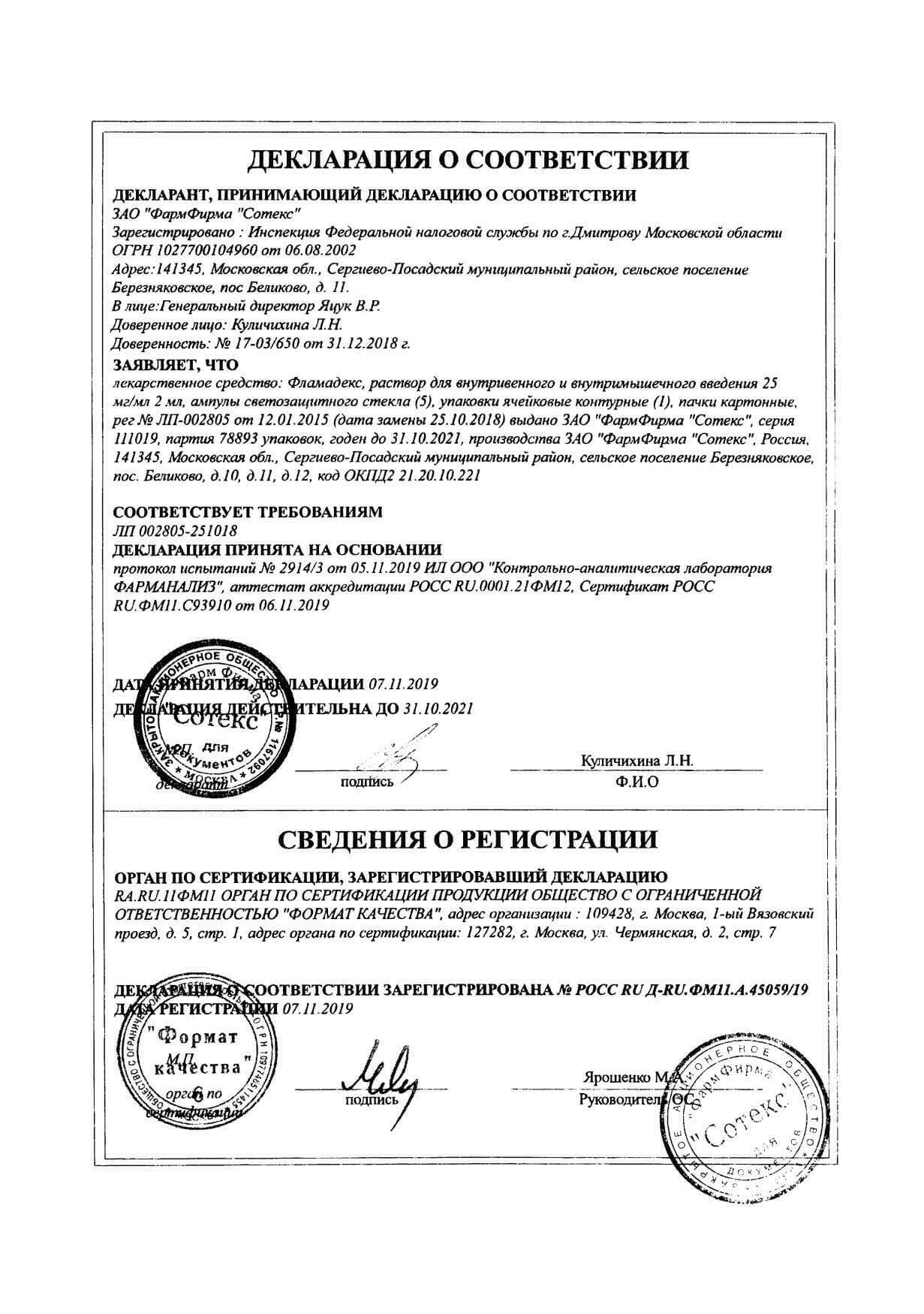 Фламадекс: инструкция по применению, аналоги и отзывы, цены в аптеках россии
