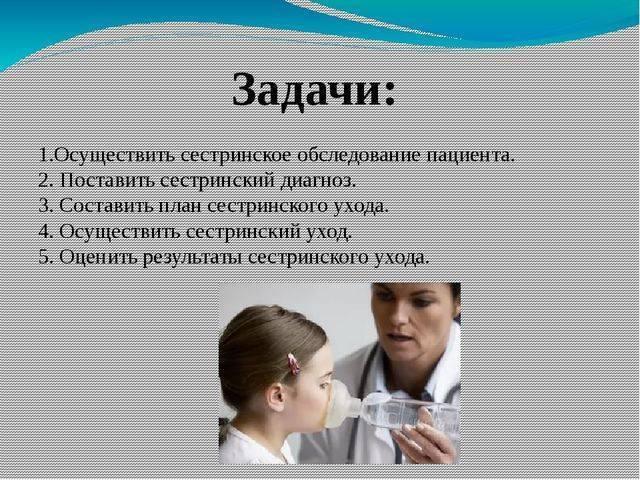 Цели, задачи и особенности сестринского процесса при бронхиальной астме
