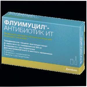Флуимуцил-антибиотик ит: применение для ингаляций