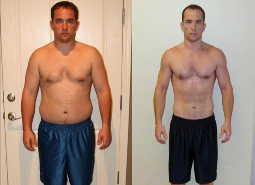 Пример Похудения Мужчинам. Похудение для мужчин