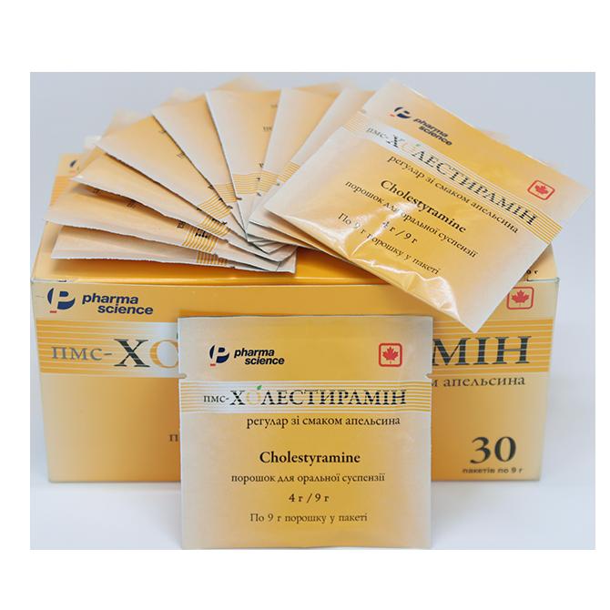 Инструкция по применению и подробное описание препарата холестирамин