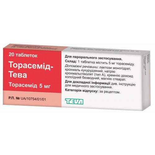 Торасемид таблетки