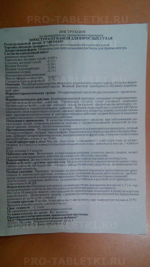 Микстура павлова: инструкция по применению, состав, отзывы