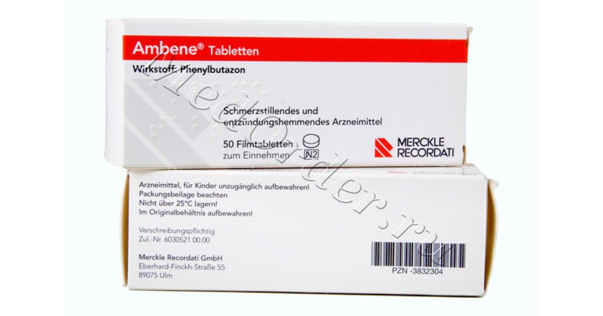 Лечение остеохондроза препаратом амбене, инструкция по применению лекарства
