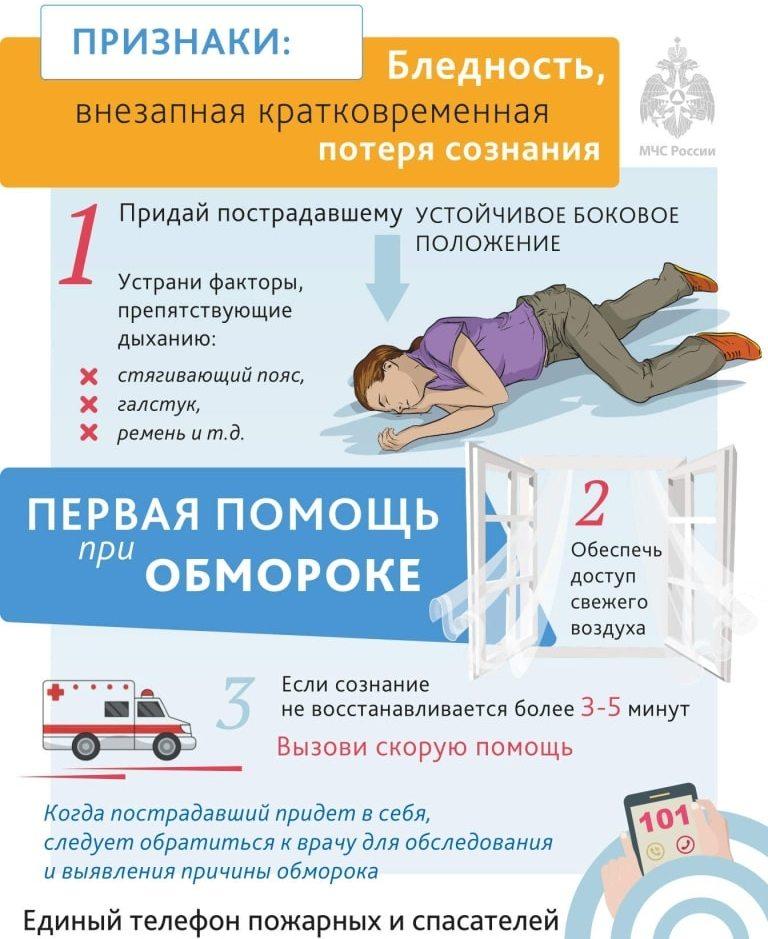 Первая помощь при обмороке: признаки обморока, ошибки