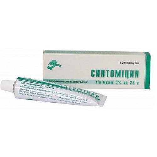 Линимент синтомицина мазь – инструкция по применению