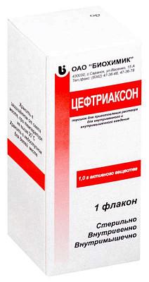 Инструкция по применению препарата цефтриаксон