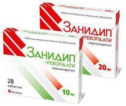 Применение препарата «занидип», его показания и противопоказания