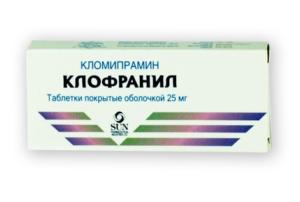 Аналоги таблеток кломипрамин
