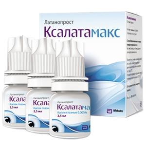 Капли для лечения глаукомы ксалатамакс