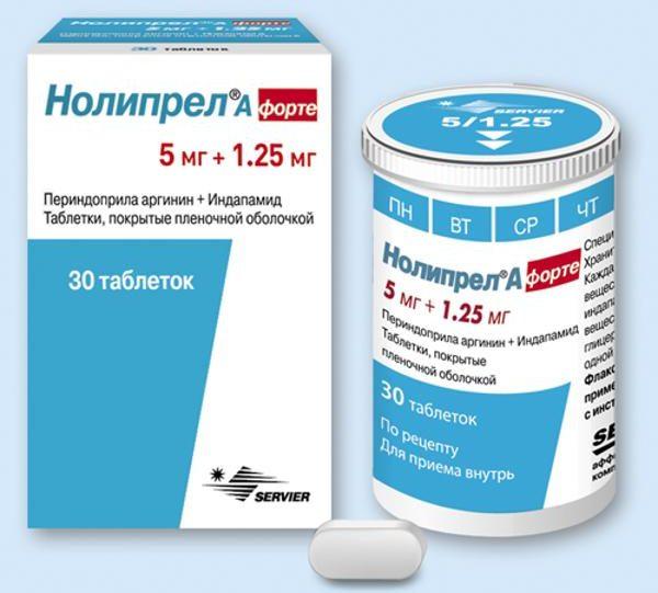 Инструкция по применению лекарства нолипрел а форте и нолипрел а би-форте от высокого давления и гипертонии