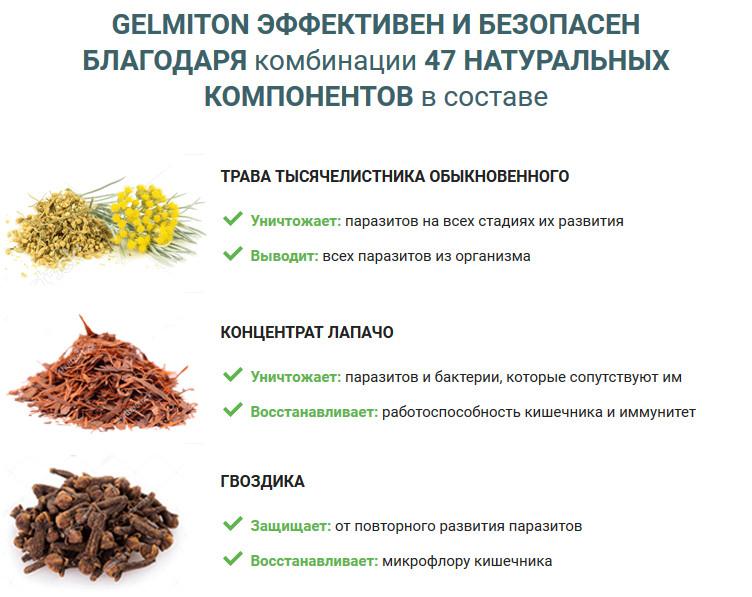 Средство от глистов и паразитов gelmiton