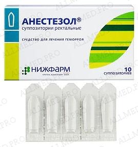 Инструкция по использованию свечей анестезол
