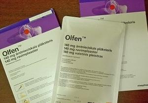 Инструкция по применению пластыря олфен