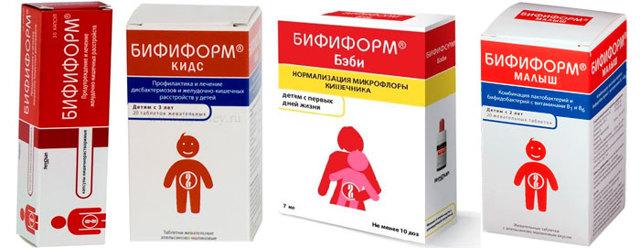 Инструкция по применению бифиформа для взрослых и детей