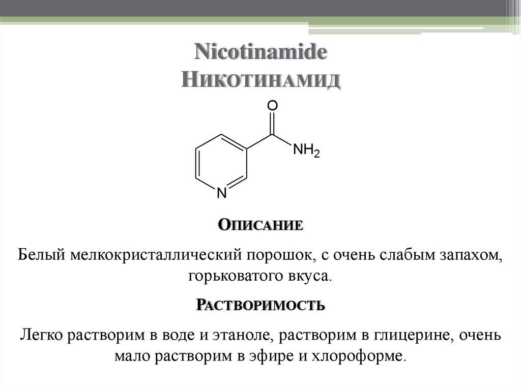 Никотинамид – что за чудо-витамин?