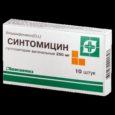 Линимент синтомицина и синтомицин свечи