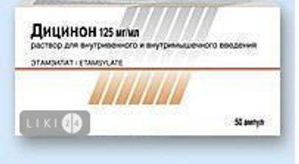 Препарат дицинон 250: инструкция по применению