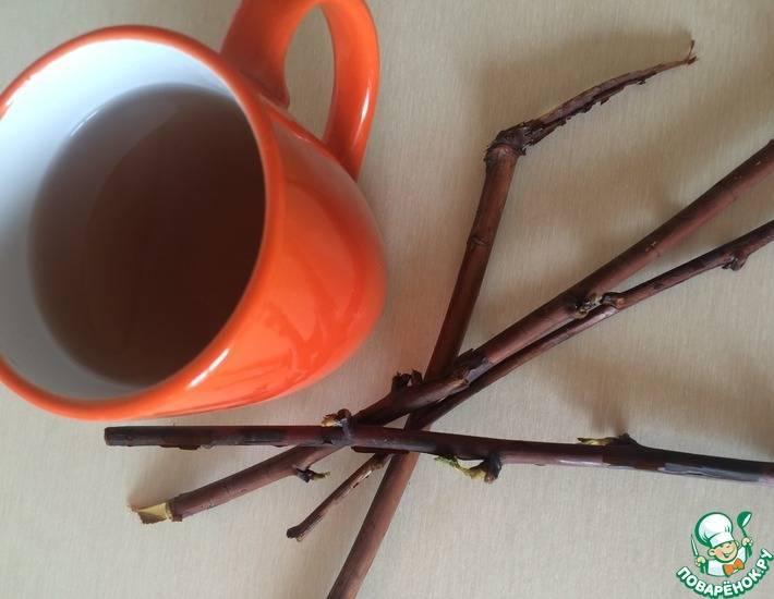 Веточки малины от кашля