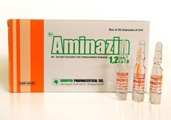 Инструкция по применению аминазина и что это такое?