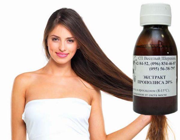 Настойка прополиса для роста и от выпадения волос