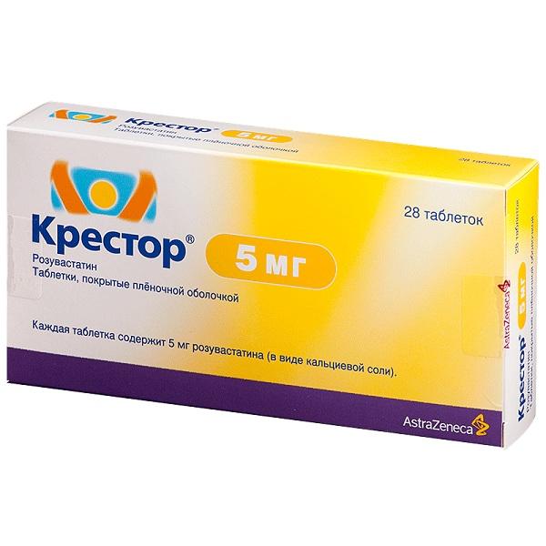 Крестор: таблетки 5 мг, 10 мг, 20 мг и 40 мг
