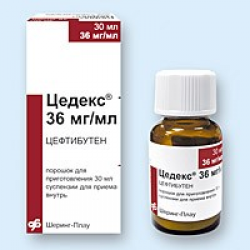 Суспензия цедекс: инструкция по применению, цефтибутен 144 мг