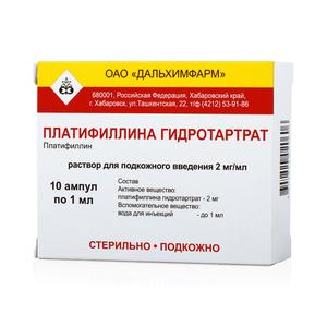 Уколы платифиллин: особенности применения препарата